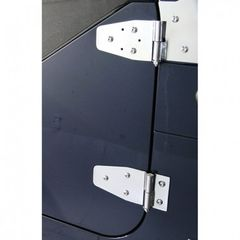 Door Hinge Kit, Stainless Steel, 94-95 Jeep Wrangler by Rugged Ridge