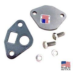 EGR Valve Block Off Plate for Jeep 6 Cyl & V8 Engines, with Hardware and Gasket