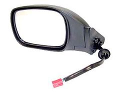 Electric Remote Mirror, Left (Black) Jeep Cherokee (1997-2001); Left side; Black w/ Foldaway.
