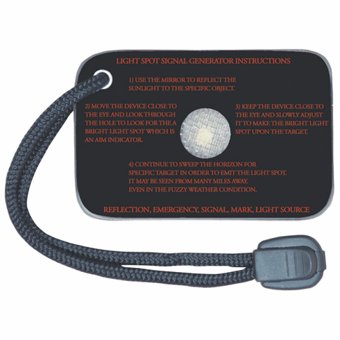 Emergency Signal Mirror with Reflectorized Screen, Scratch Resistant