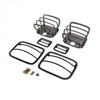 ( 1118006 ) Euro Guard Kit, Black Chrome, 87-95 Jeep Wrangler by Rugged Ridge