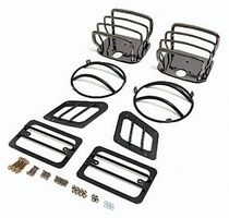 ( 1118005 ) Euro Guard Kit, Black Chrome, 97-06 Jeep Wrangler by Rugged Ridge