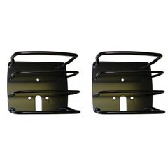 Euro Tail Light Guards, Black, 76-06 Jeep CJ and Wrangler by Rugged Ridge