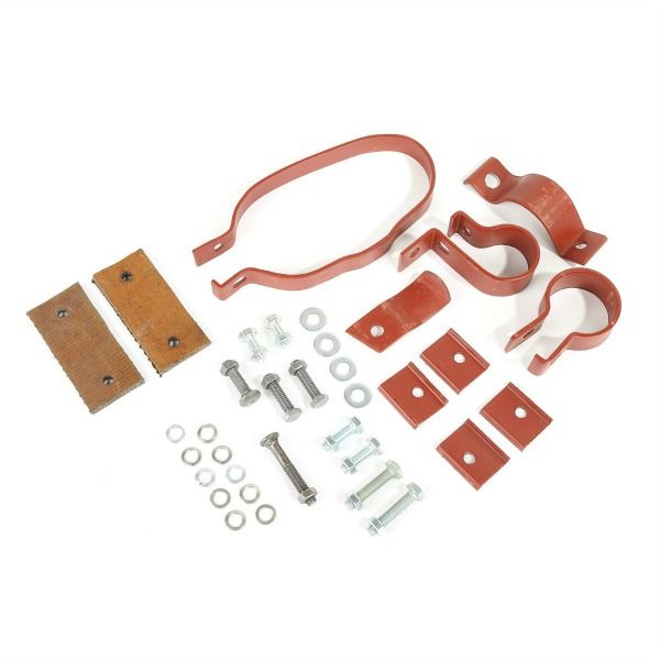 MB GPW clamp kit oval Exhaust Mounting Kit For 1941-45 Jeep MB /& GPW A5753K A5753X WO-A5753X
