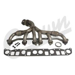 ( 4883385K ) Exhaust Manifold Kit for 1991-99 Jeep Wrangler YJ & TJ, Cherokee XJ & Grand Cherokee ZJ with 4.0L Engine by Crown Automotive