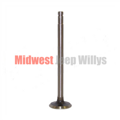 Exhaust Valve for Willys Jeep 4-134 CI F-Head Hurricane 4 Cylinder Engines, 1952-1971 Models