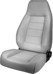 High-Back Front Seat, Reclinable, Gray, 76-02 Jeep CJ and Wrangler by Rugged Ridge