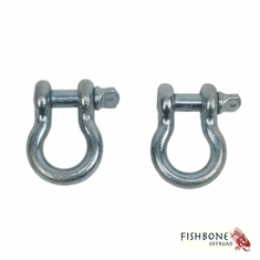 """( FB21037 ) Zinc 3/4"""" D-Ring Set for Universal Jeep Applications by Fishbone Offroad"""