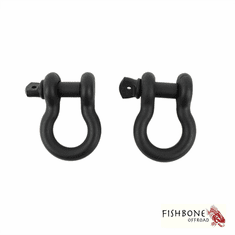 "( FB21039 ) Black 3/4"" D-Ring Set for Universal Jeep Applications by Fishbone Offroad"