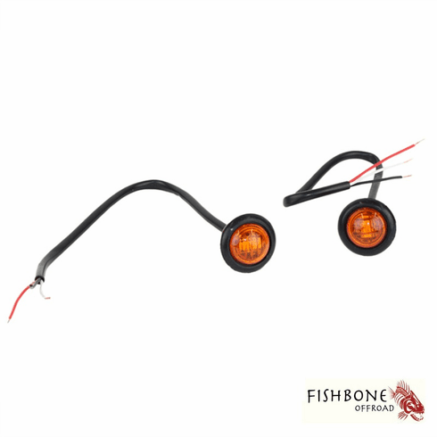 """( FB21041 ) 3/4"""" Amber LED Light Set for Universal Jeep Applications by Fishbone Offroad"""