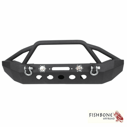 ( FB22003 ) Front Full Width Winch Bumper with LED's, Fits 2007 to 2018 JK Wrangler, Rubicon and Unlimited by Fishbone Offroad