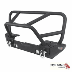( FB22005 ) Front Winch Bumper with Full Grille Guard, Fits 2007 to 2018 JK Wrangler, Rubicon and Unlimited by Fishbone Offroad
