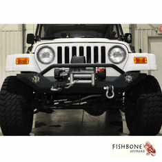 ( FB22016 ) Front Winch Bumper with LED's, Fits 1987 to 2006 YJ and TJ Wrangler, Rubicon and Unlimited by Fishbone Offroad