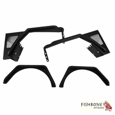 ( FB23029 ) Front and Rear Tube Fender Set for 1997 to 2006 TJ Wrangler, Rubicon and Unlimited by Fishbone Offroad