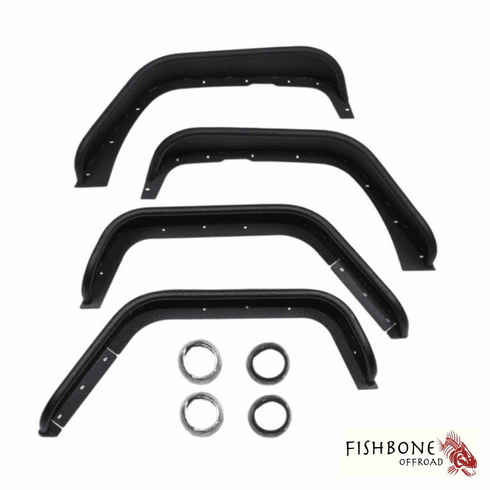 ( FB33006 ) Aluminum Tube Fenders, Fits 2007 to 2018 JK Wrangler, Rubicon and Unlimited by Fishbone Offroad