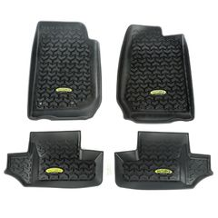 Outland Black Floor Liner Kit for 2007-2017 Jeep Wrangler JK 2-Door