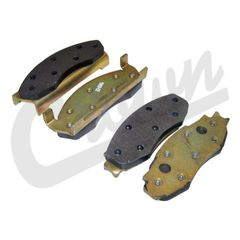 ( J8131785 ) Front Disc Brake Pad Set, 1978-81 Jeep CJ with Two Bolt Caliper Plate By Crown Automotive
