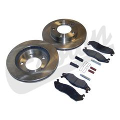( 5363421RK ) Front Disc Brake Service Kit, 1981-86 Jeep CJ5, CJ7, CJ8 W/ 5-Bolt Flange Mounting By Crown Automotive