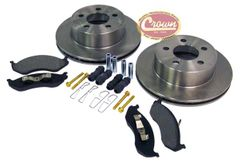 Front Disc Brake Service Kit, 1999-06 Jeep Wrangler TJ W/ 1-Piece Cast Rotor,  1999-01 Cherokee XJ W/ 1-Piece Cast Rotor