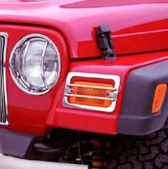 ( 1114203 ) Euro Guard Set, Stainless Steel, 87-95 Jeep Wrangler by Rugged Ridge