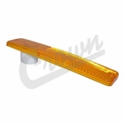 ( J0994020 ) Front Side Marker Lens in Amber for 1967-1986 C101, C104 Commando, Jeep CJ Models by Crown Automotive