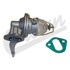 ( J0912017 ) Fuel Pump with Glass Fuel Bowl, Fits 1941-1971 Jeep & Willys w/ 4-134 L-Head or 4-134 F-Head Engine by Crown Automotive