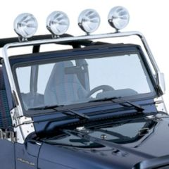 License Plate Bracket, Stainless Steel, 87-95 Jeep Wrangler by Rugged Ridge