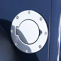 Non-Locking Gas Cap Door, Stainless Steel, 97-06 Jeep Wrangler by Rugged Ridge