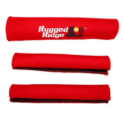 ( 1330551 ) Neoprene Door and Grab Handle Covers, Red, 87-95 Jeep Wrangler by Rugged Ridge