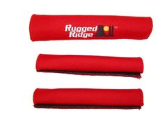 Neoprene Door and Grab Handle Covers, Red, 97-06 Jeep Wrangler by Rugged Ridge
