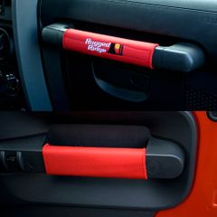 Grab Handle Kit, Red, 07-10 Jeep Wrangler by Rugged Ridge