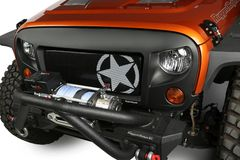 ( 1203421 ) Grille Insert, Military Star, 07-17 Jeep Wrangler JK by Rugged Ridge