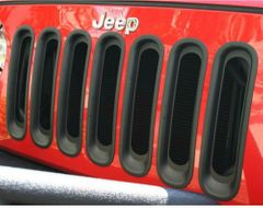 ( 1130630 ) Grille Inserts, Black, 07-17 Jeep Wrangler by Rugged Ridge