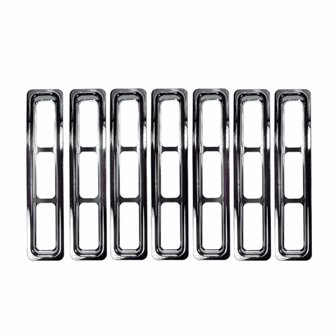 Grille Inserts, Chrome Trim, 1997-06 Jeep Wrangler/Unlimited