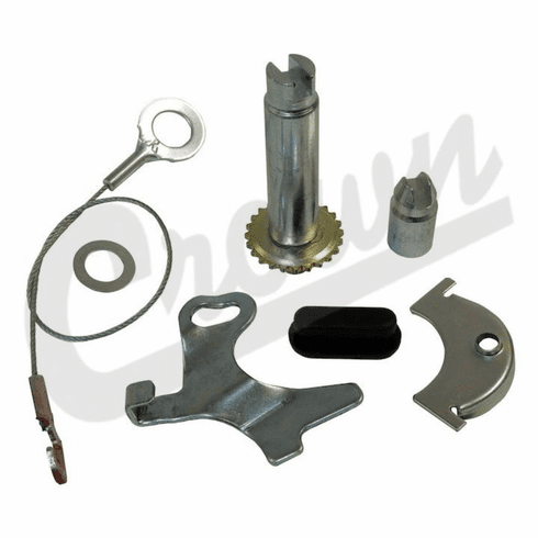 "( H2540 ) Drivers Side Self Adjusting Hardware Kit, Front or Rear Brakes, Fits 1972-78 Jeep CJ with 11"" Brakes by Crown Automotive"
