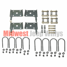 ( Hardware-2 ) Suspension Hardware Kit, Rubber Bushings, Fits 1958-1971 Jeep CJ3B, M38A1, CJ5 and CJ6 by Preferred Vendor