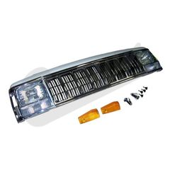 ( 55294926K ) Header Panel Kit,Fits 1991-1996 Cherokee with Chrome Grille By Crown Automotive