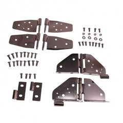 Hinge Kit, Black Chrome, 87-95 Jeep Wrangler by Rugged Ridge