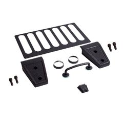 Hood Dress Up Kit, Textured Black, 07-17 Jeep Wrangler by Rugged Ridge