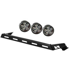 Hood Light Bar Kit, 3 Round LED Lights, 07-17 Jeep Wrangler JK by Rugged Ridge