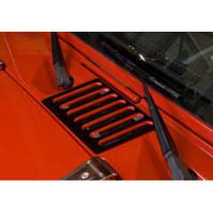 ( 1120605 ) Cowl Vent Cover, Black, 07-17 Jeep Wrangler by Rugged Ridge