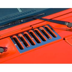 ( 1111705 ) Cowl Vent Cover, Stainless Steel, 07-17 Jeep Wrangler by Rugged Ridge