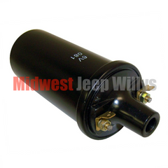 Ignition Coil, All Jeep & Willys Models 1941-1959 With 6 Volt Electrical System