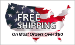 Free Shipping on most orders over $80.00