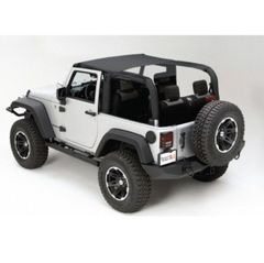 Island Topper, Black Diamond, 07-09 Jeep Wrangler by Rugged Ridge