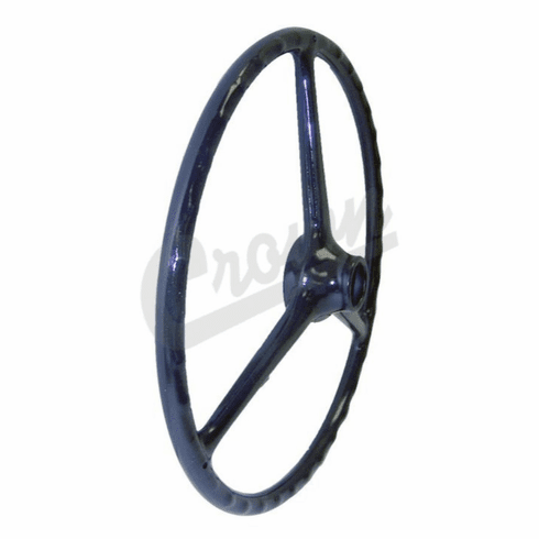 """( J0914047 ) Replacement Black Steering Wheel for 1-1/4"""" Horn Button, Fits CJ2A, CJ3A, CJ3B, DJ3A, CJ5, CJ6, FC150 by Crown Automotive"""