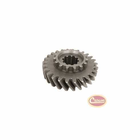 ( J0947339 ) Mainshaft Gear, fits 1963-1979 Jeep CJ, C-101 Jeepster, J-Series & Wagoneer with Dana 20 Transfer Case, (Mark 18-8-49) T-14 Transmission, 26 Teeth Count by Crown Automotive