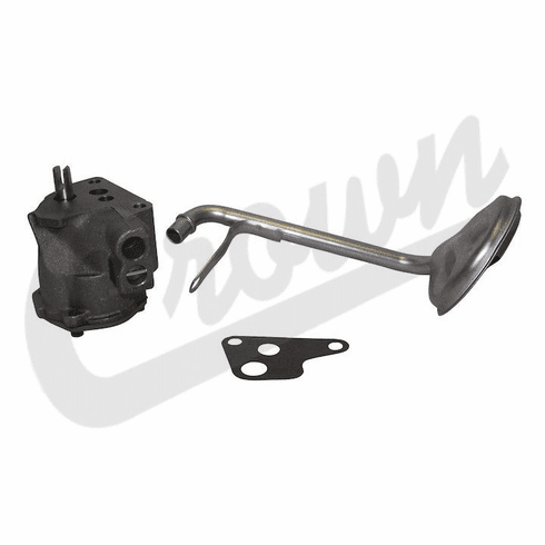 ( J3181340 ) Oil Pump & Pickup Screen for 1965-1980 Jeep Models with 4.2L 258 6 Cylinder Engine By Crown Automotive