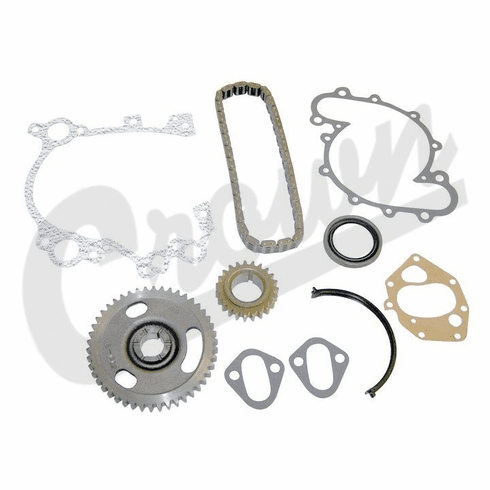 ( J3234433 ) Timing Chain Kit, AMC V8 for 1979-1991 Jeep Vehicles With 1/2″ Wide Timing Chain By Crown Automotive