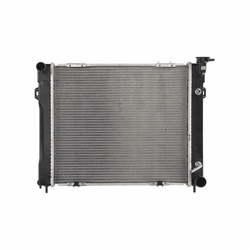 ( J4734104 )  Radiator, Jeep Grand Cherokee 1993-1997 W/ 8 Cyl Engine. Inlet 1-1/2; Outlet 1-3/4 Core Size: 22-1/8 X 19-3/8; 2 Rows by Preferred Vendor